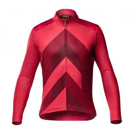MAILLOT MAVIC COSMIC LS JERSEY GRAPHIC HAUTE RED